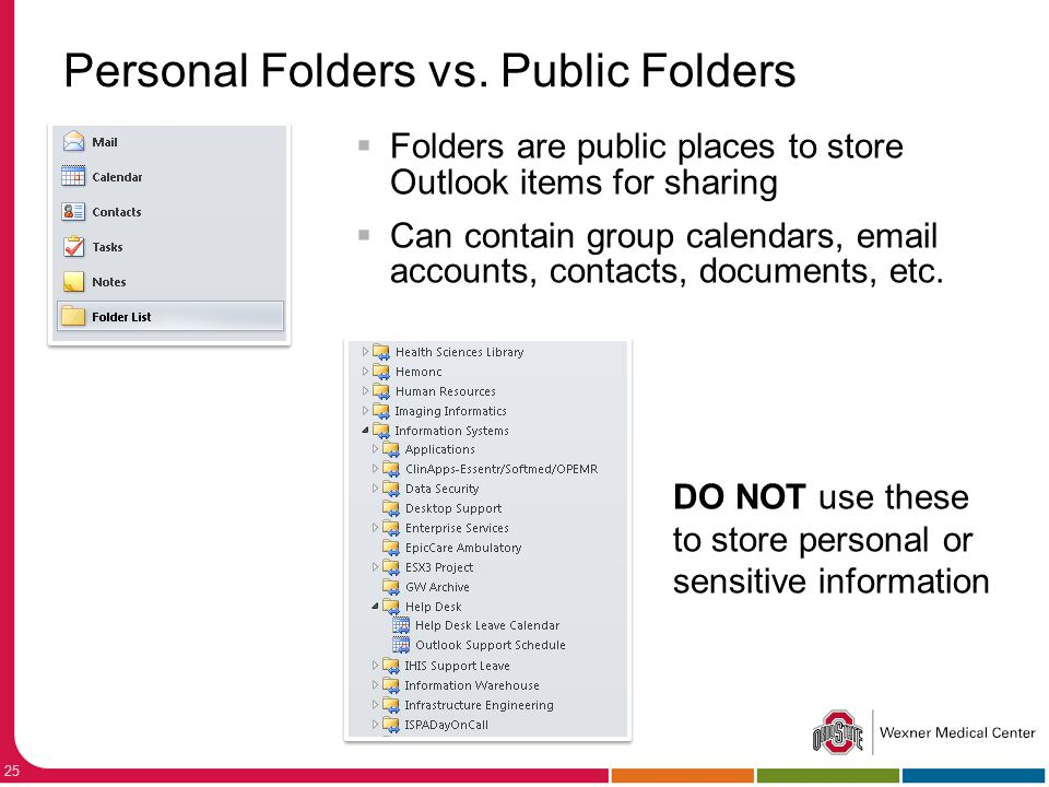 Personal Folders vs. Public Folders