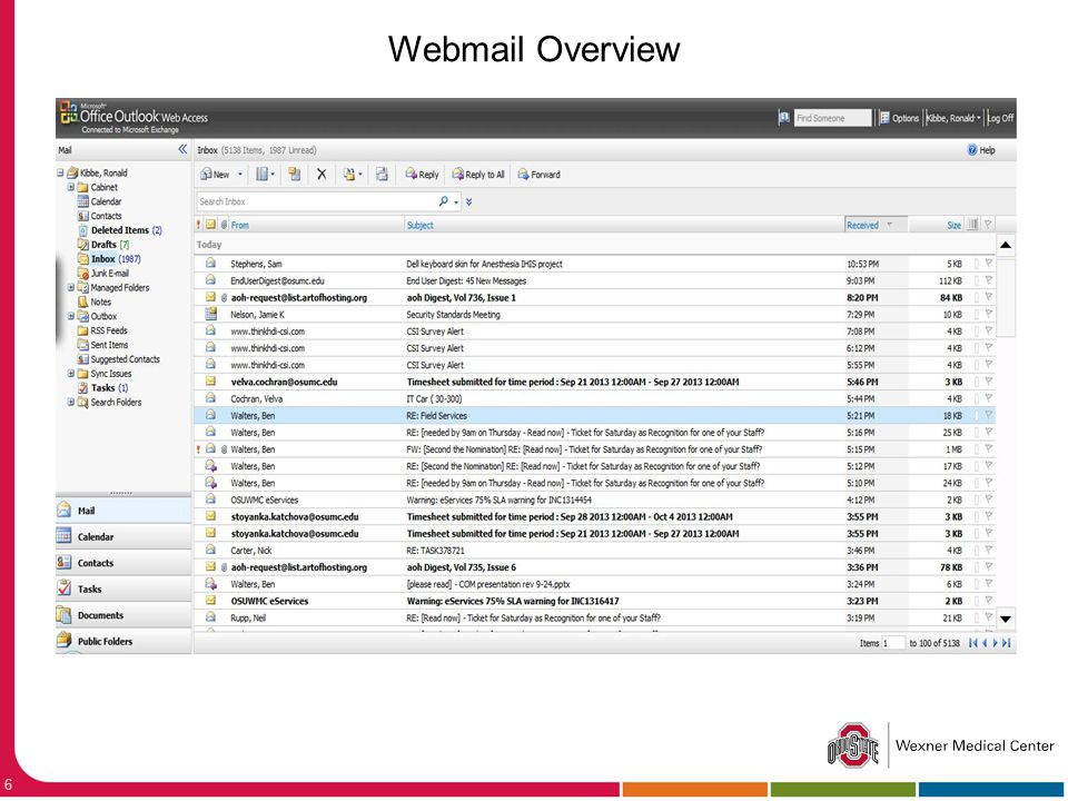 Webmail Overview