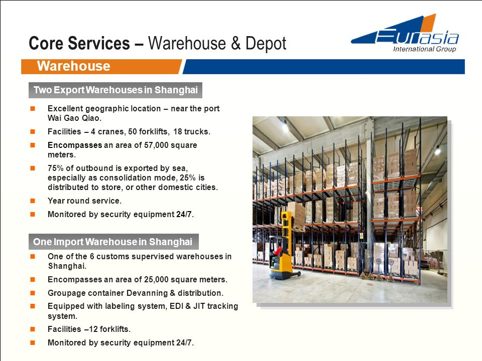 Core Services – Warehouse & Depot