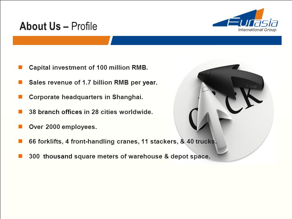 About Us – Profile Capital investment of 100 million RMB.
