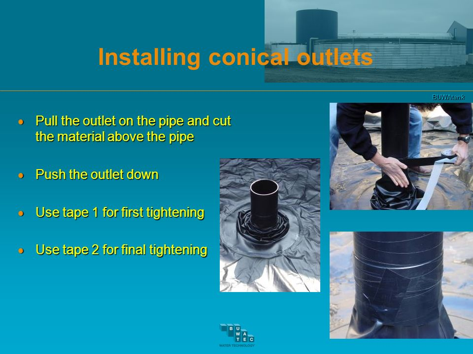 Installing conical outlets