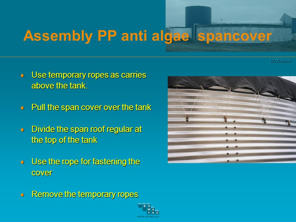 Assembly PP anti algae spancover