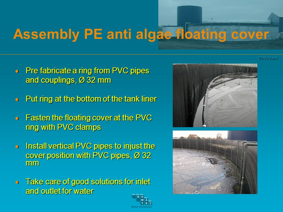 Assembly PE anti algae floating cover