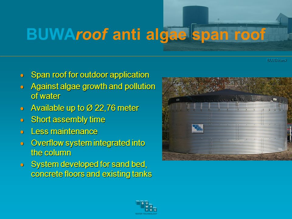 BUWAroof anti algae span roof