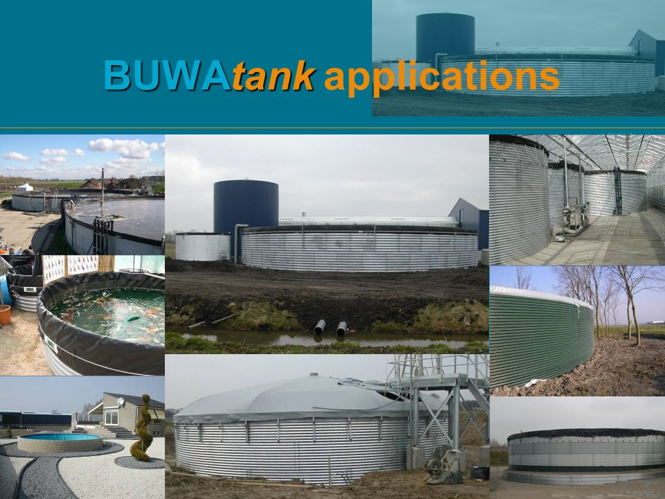 BUWAtank applications