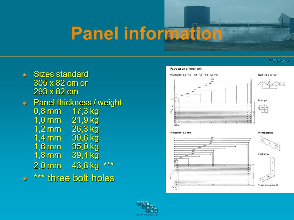 Panel information *** three bolt holes