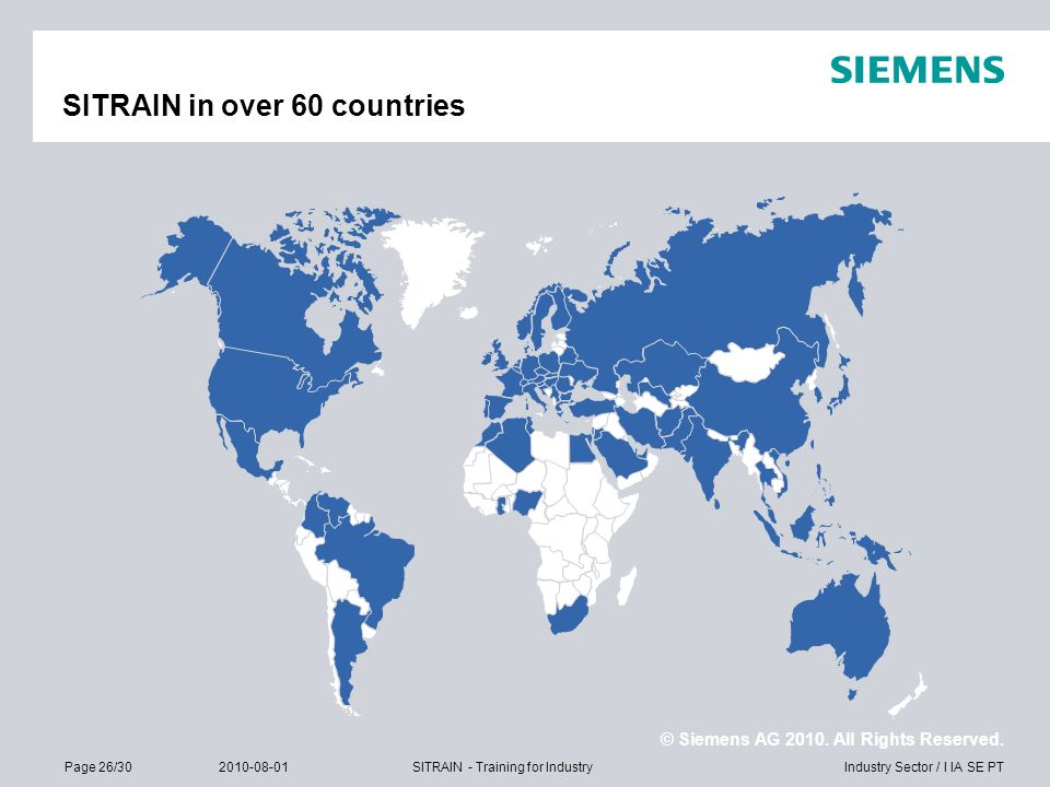 SITRAIN in over 60 countries