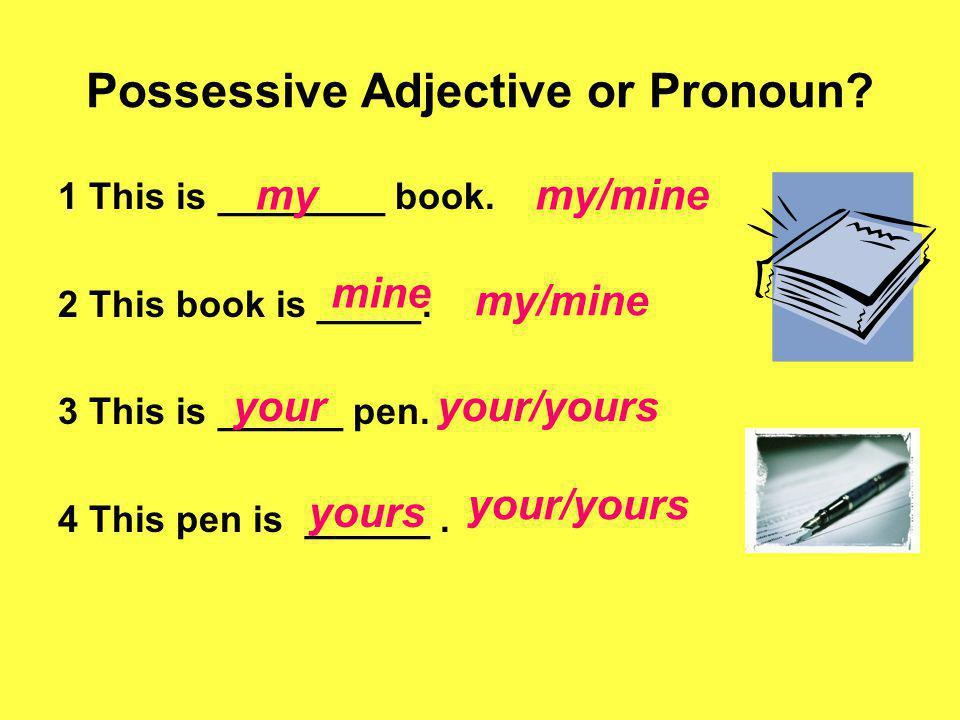 Possessive Adjective or Pronoun