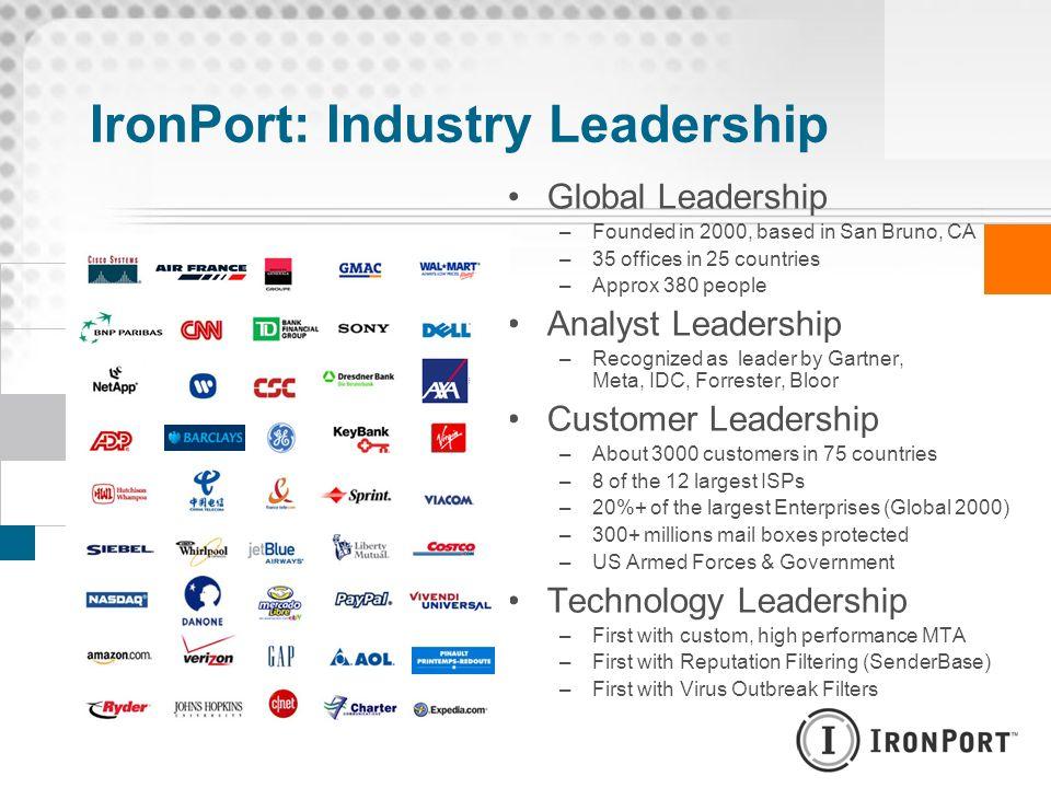 IronPort: Industry Leadership