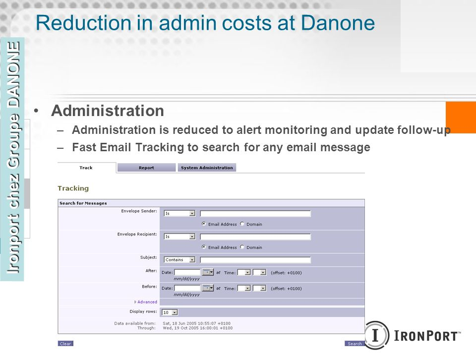 Reduction in admin costs at Danone