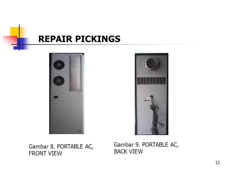 REPAIR PICKINGS Gambar 9. PORTABLE AC, BACK VIEW