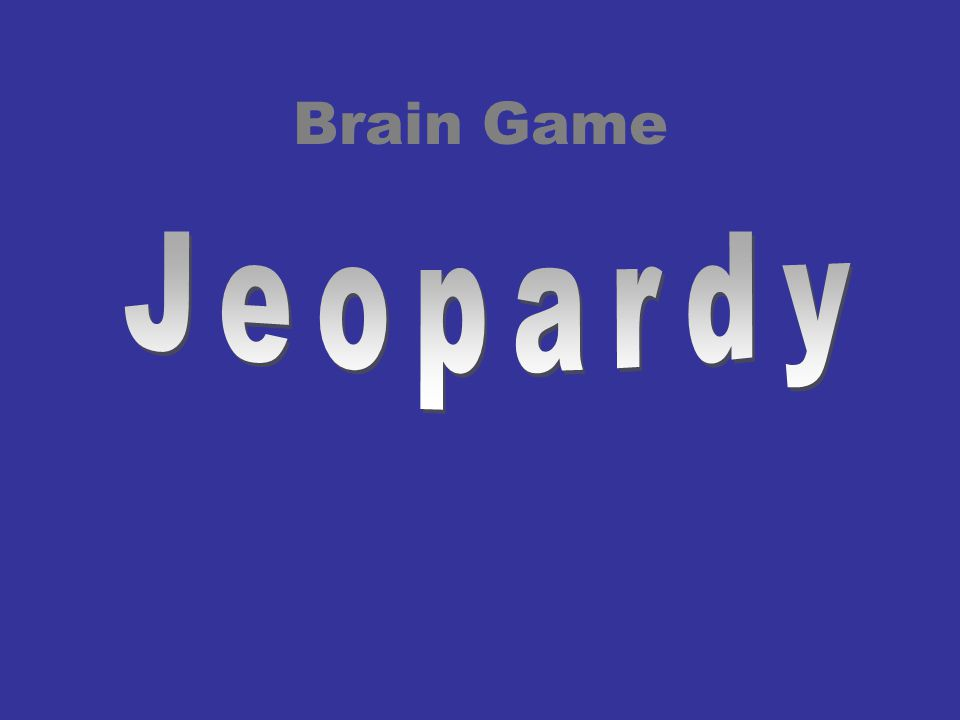 Brain Game Jeopardy