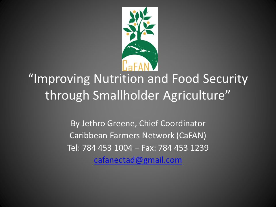 Improving Nutrition and Food Security through Smallholder Agriculture