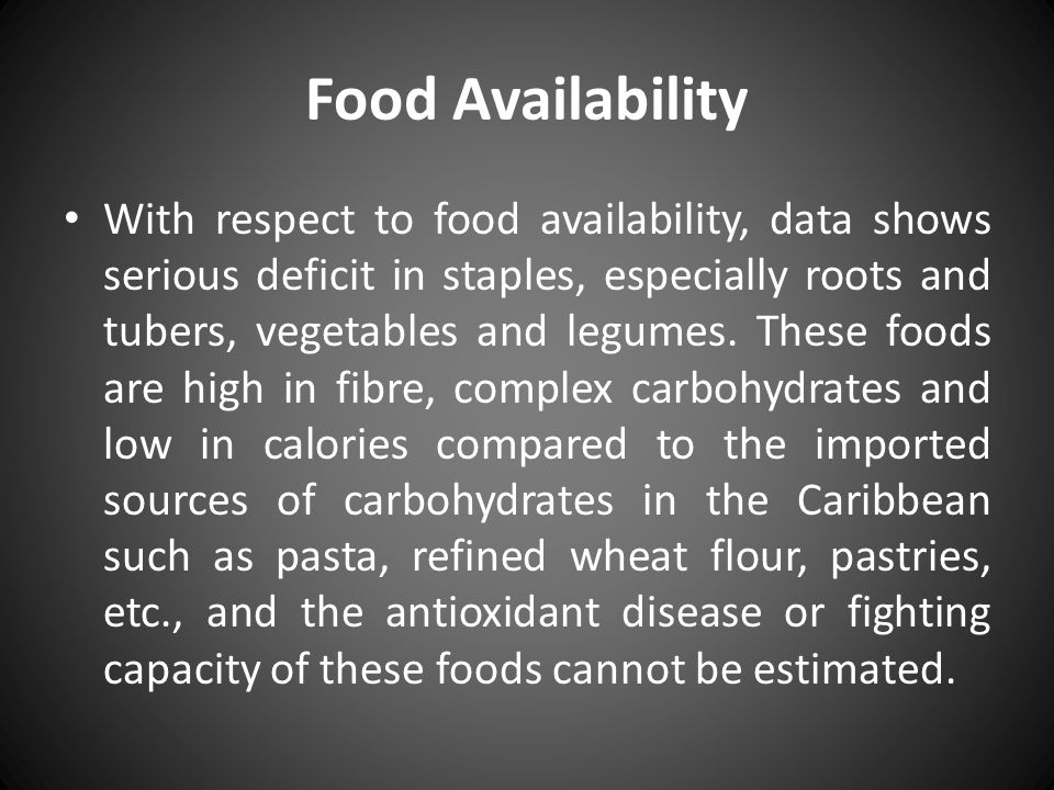 Food Availability