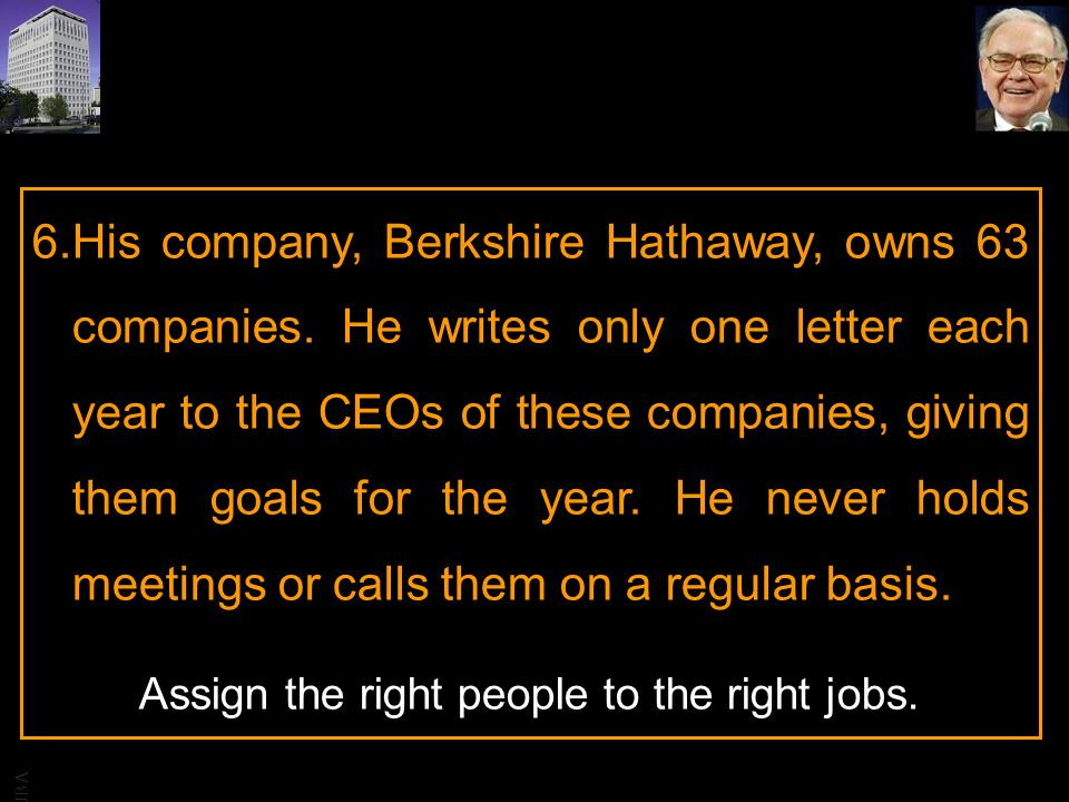 His company, Berkshire Hathaway, owns 63 companies