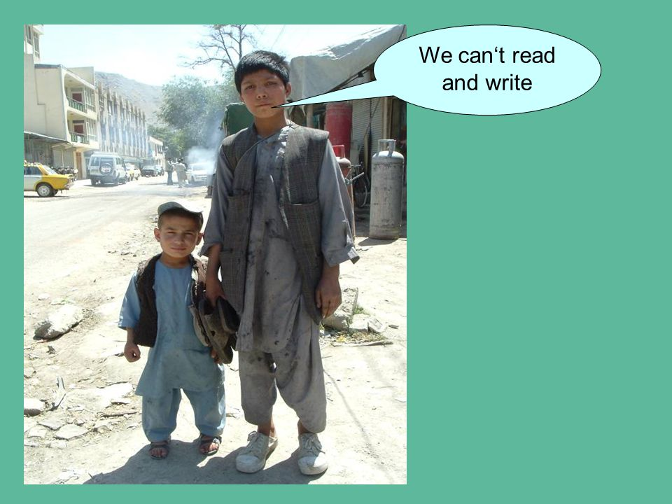 We can't read and write