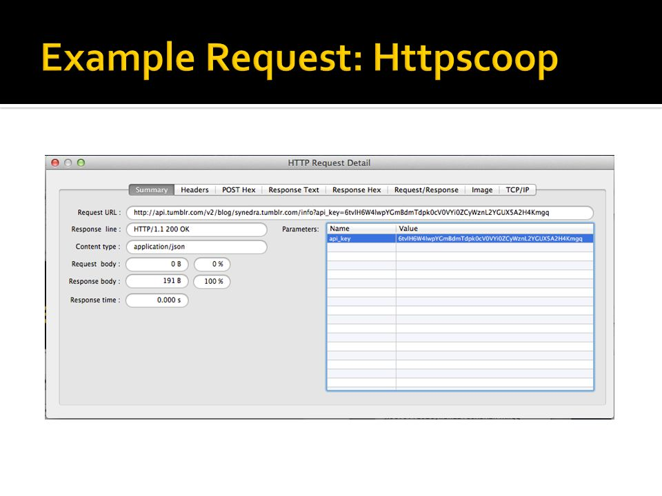 Example Request: Httpscoop