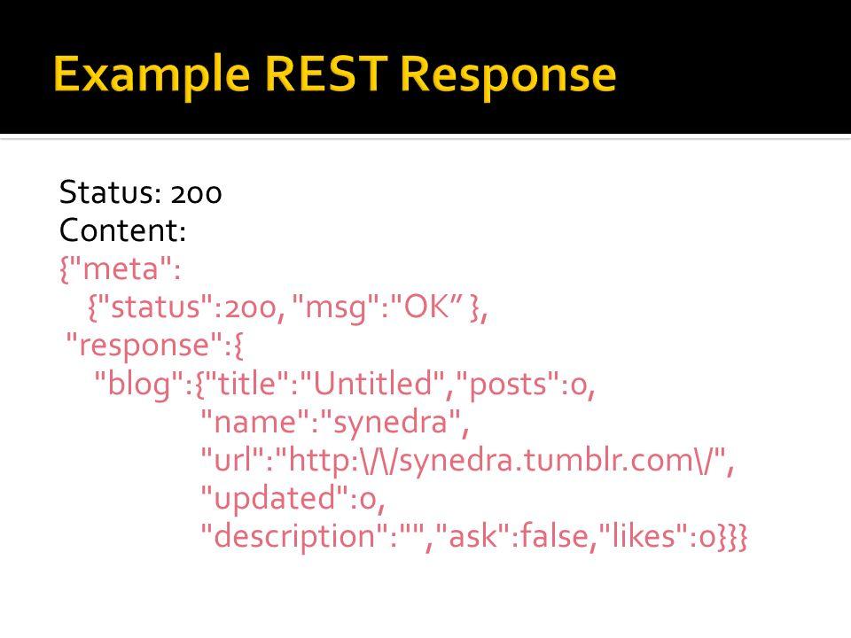 Example REST Response