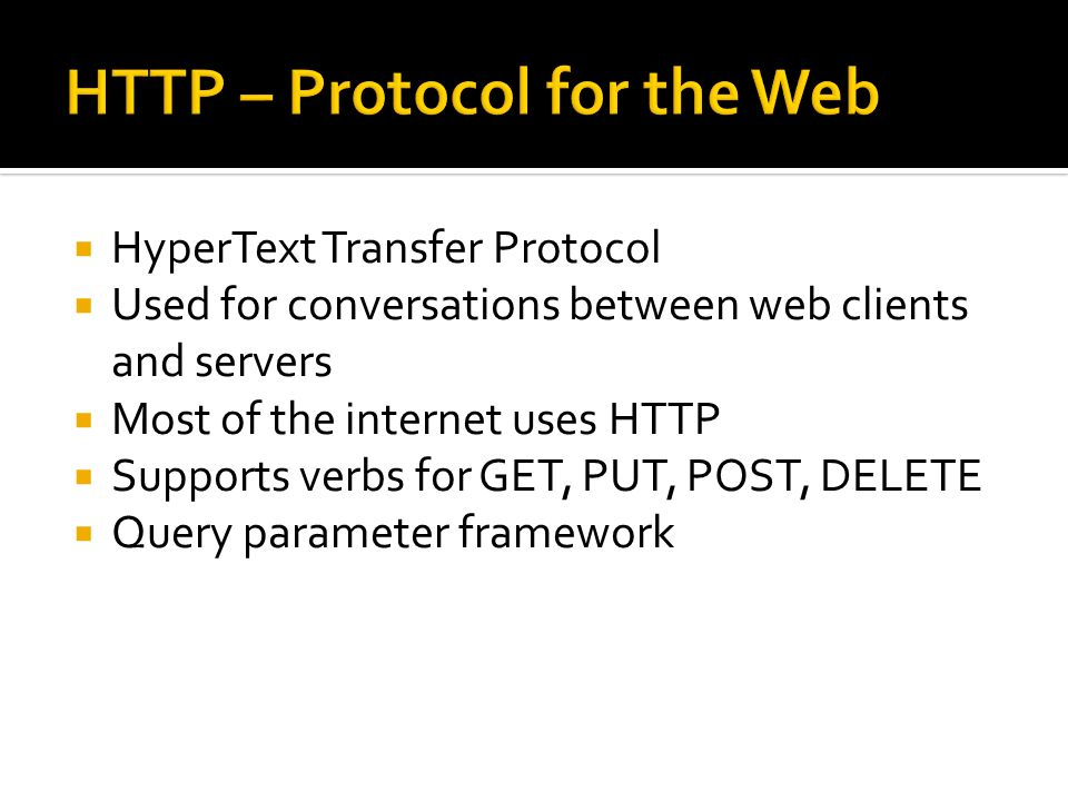 HTTP – Protocol for the Web