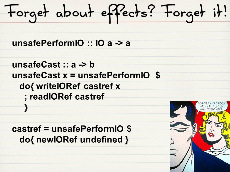 Forget about effects Forget it!