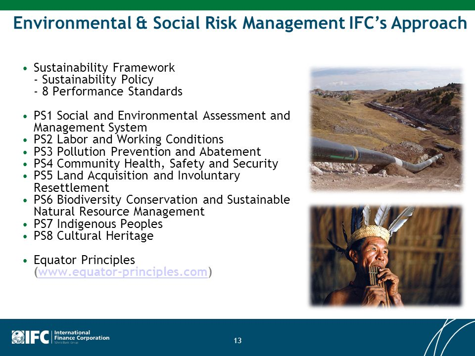Environmental & Social Risk Management IFC's Approach