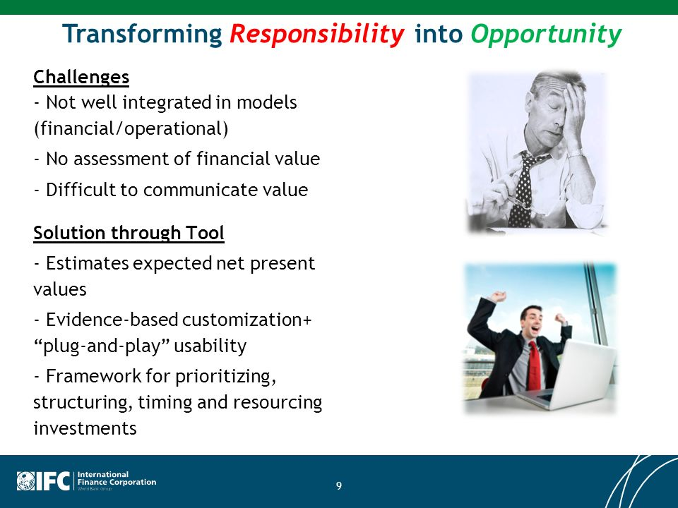 Transforming Responsibility into Opportunity