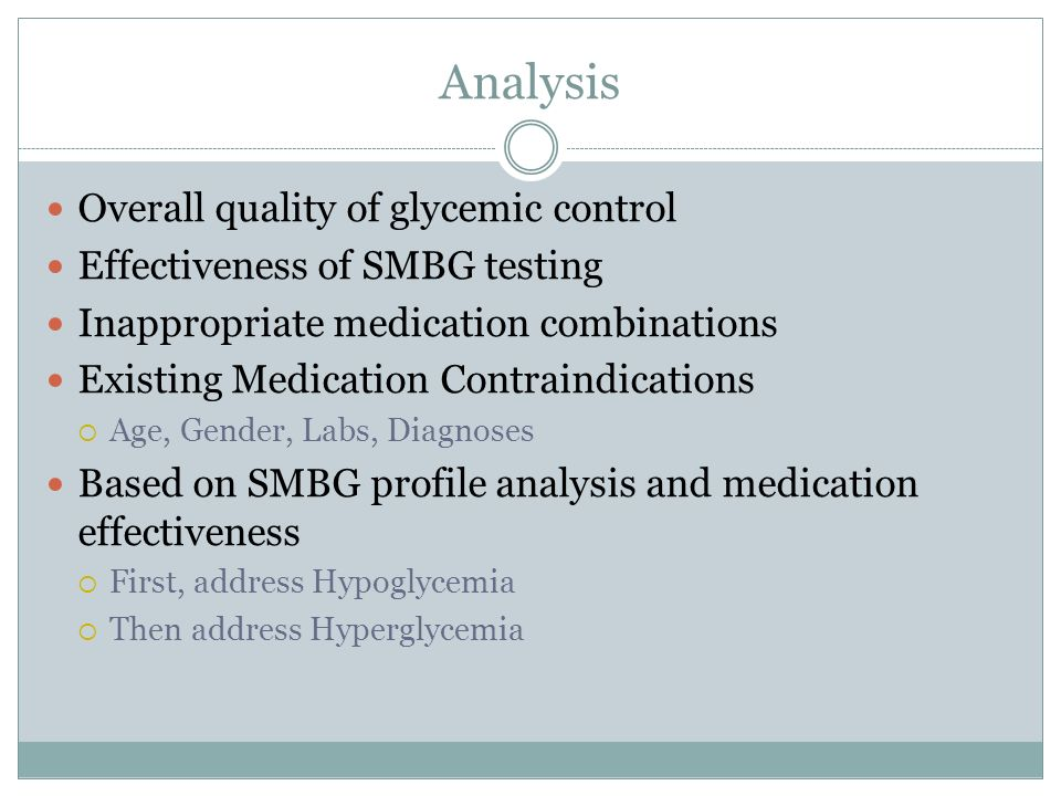 Analysis Overall quality of glycemic control