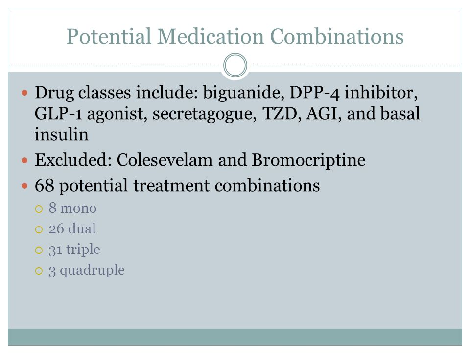 Potential Medication Combinations