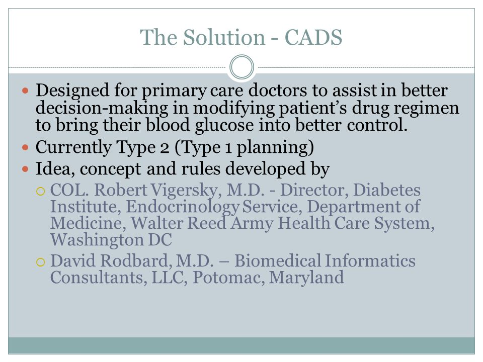The Solution - CADS