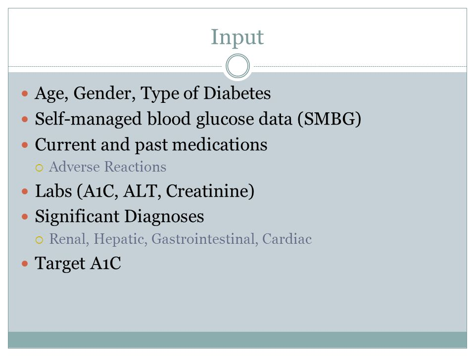 Input Age, Gender, Type of Diabetes
