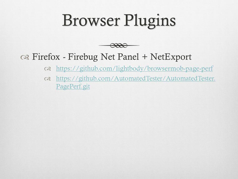 Browser Plugins Firefox - Firebug Net Panel + NetExport