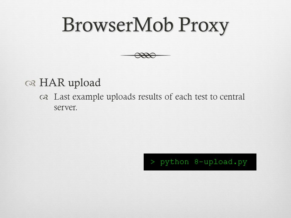 BrowserMob Proxy HAR upload