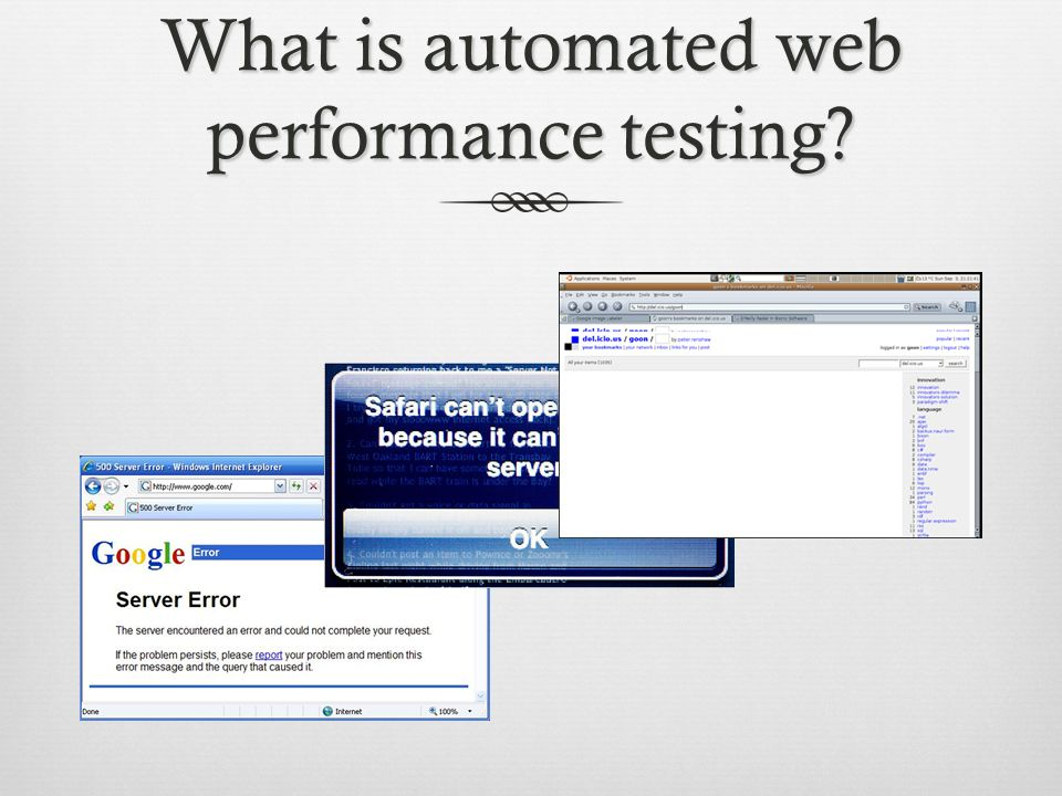 What is automated web performance testing