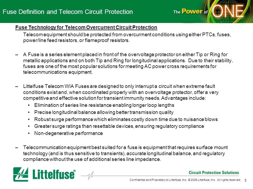 Fuse Definition and Telecom Circuit Protection