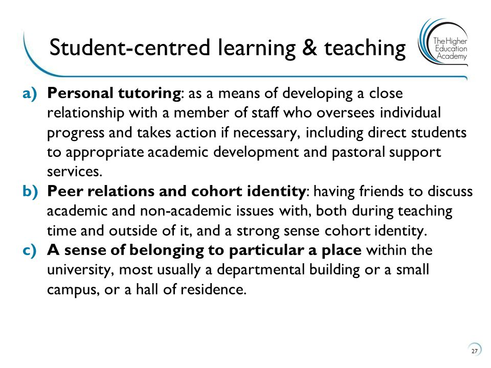 Student-centred learning & teaching