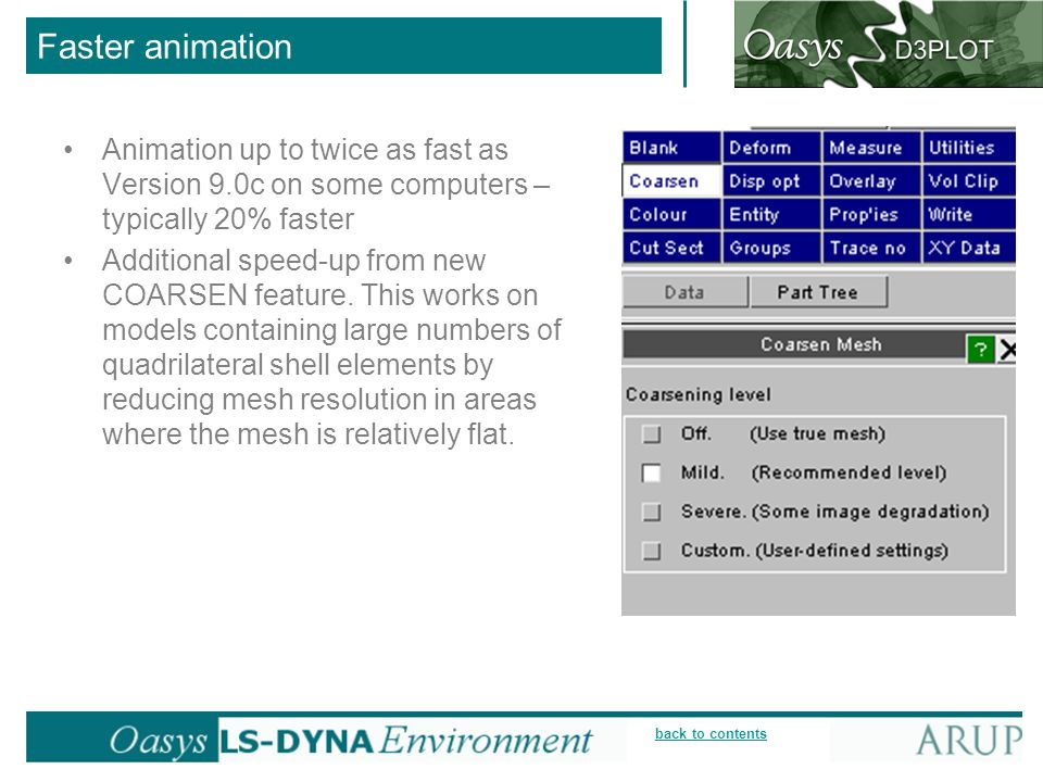 Faster animation Animation up to twice as fast as Version 9.0c on some computers – typically 20% faster.