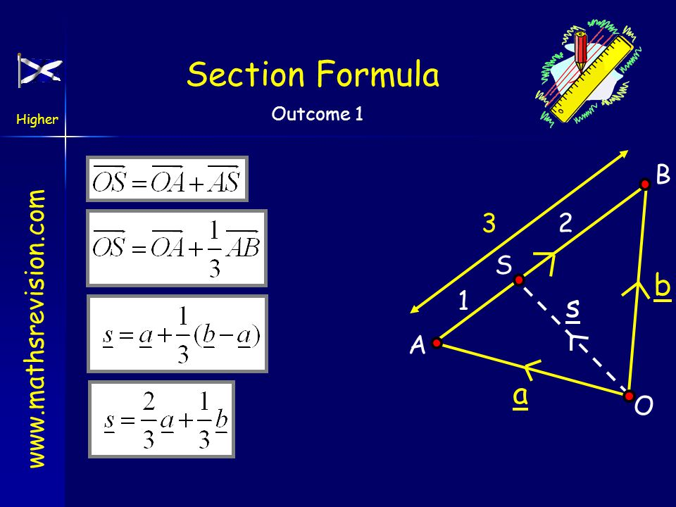 Section Formula B 3 2 S b 1 s A a O