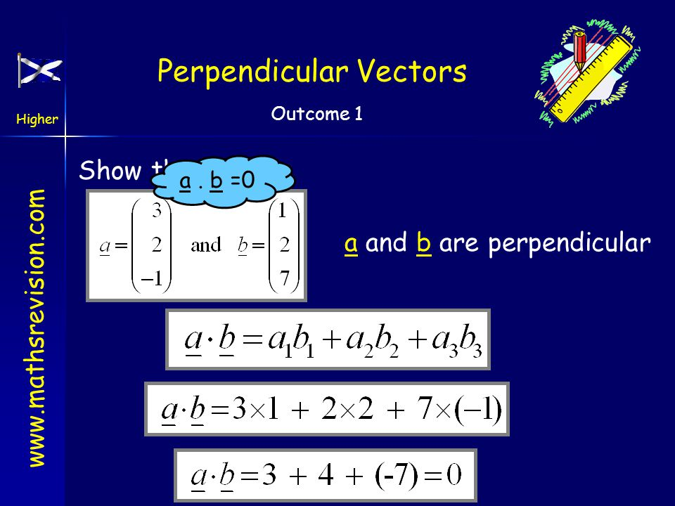 Perpendicular Vectors
