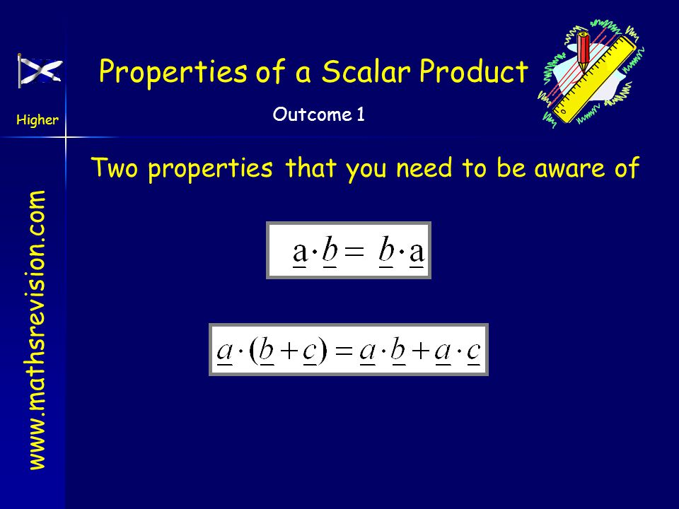 Properties of a Scalar Product