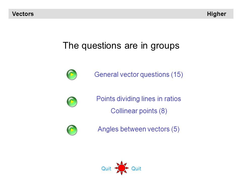 The questions are in groups