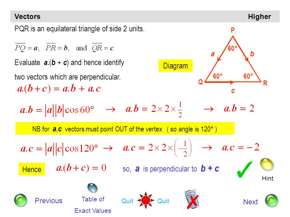 PQR is an equilateral triangle of side 2 units.