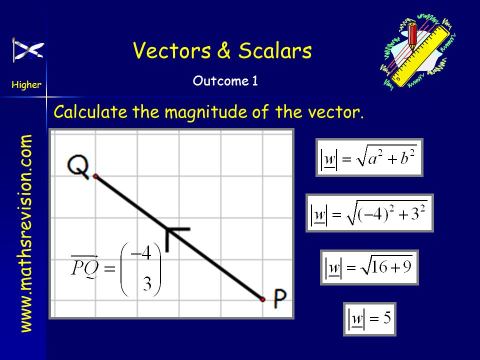 Calculate the magnitude of the vector.