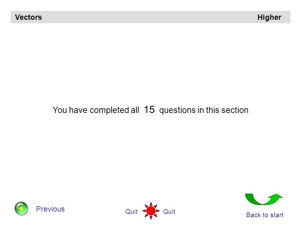 You have completed all 15 questions in this section