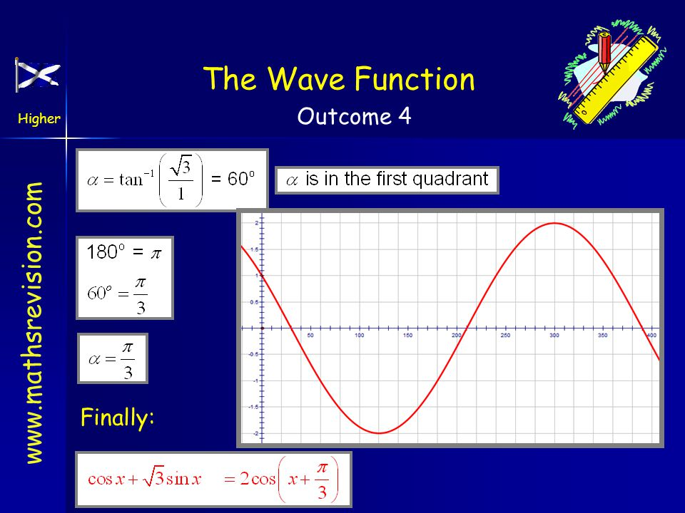 The Wave Function Finally: