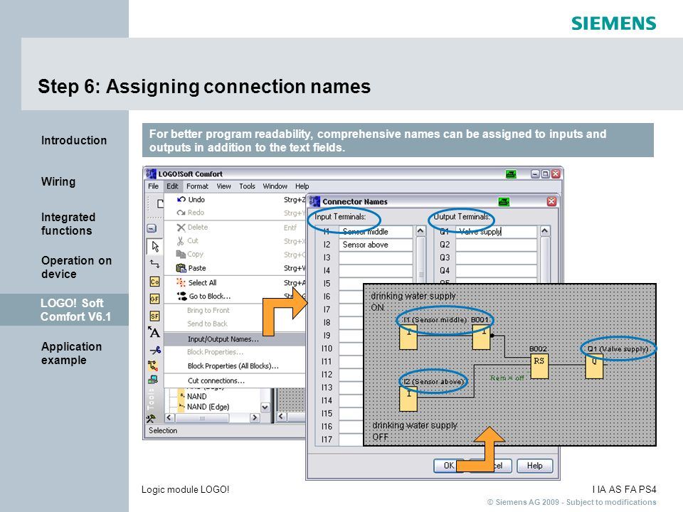 Step 6: Assigning connection names