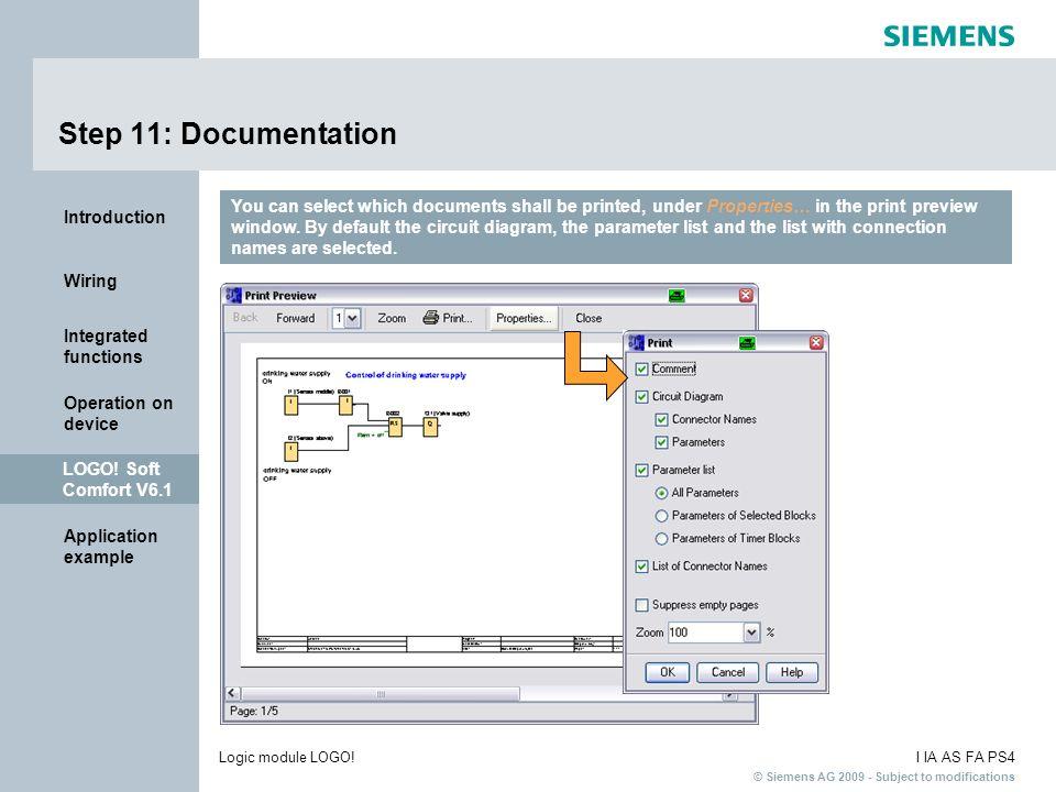 Step 11: Documentation