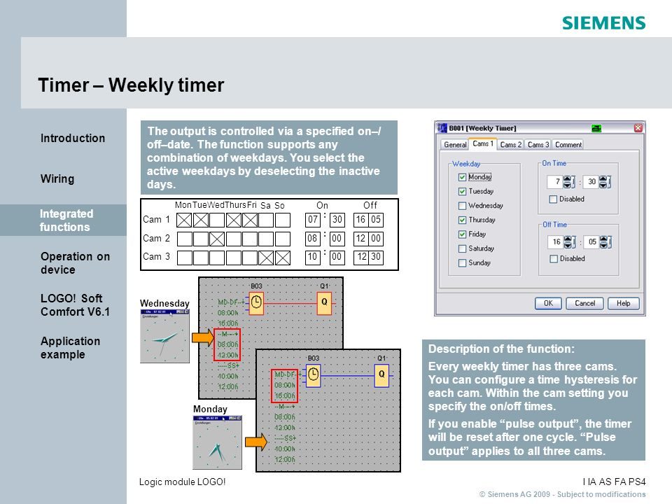 Timer – Weekly timer