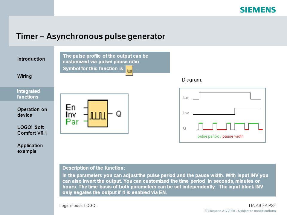 Timer – Asynchronous pulse generator