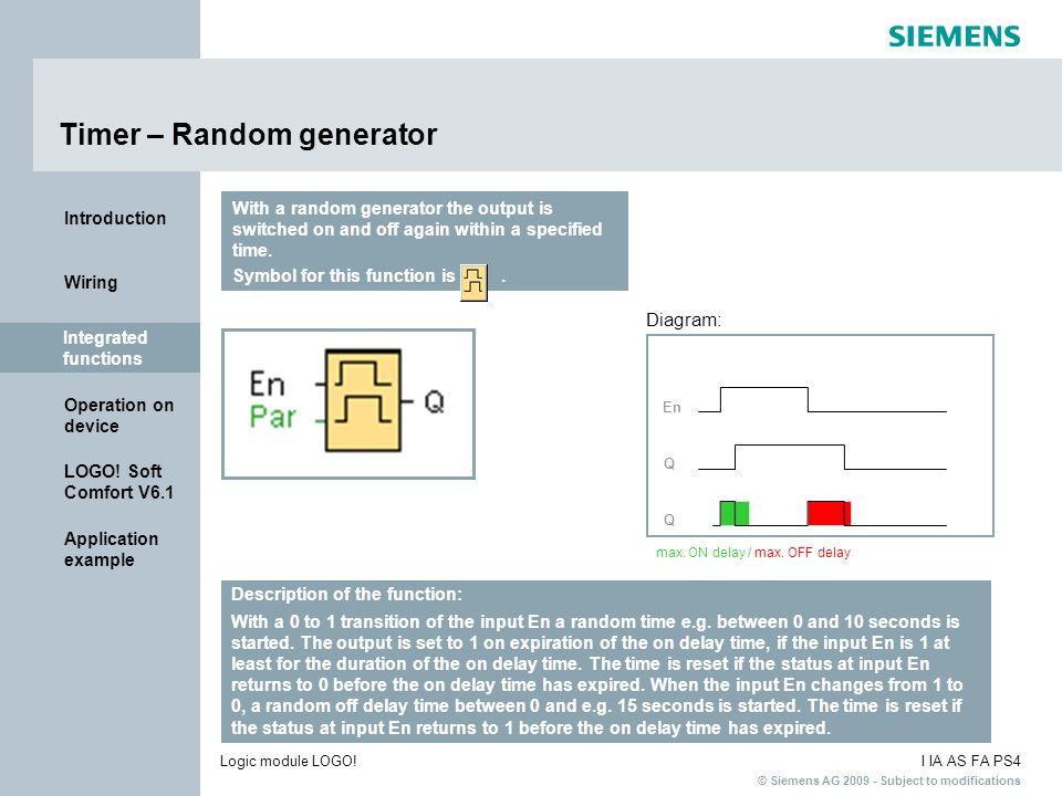 Timer – Random generator