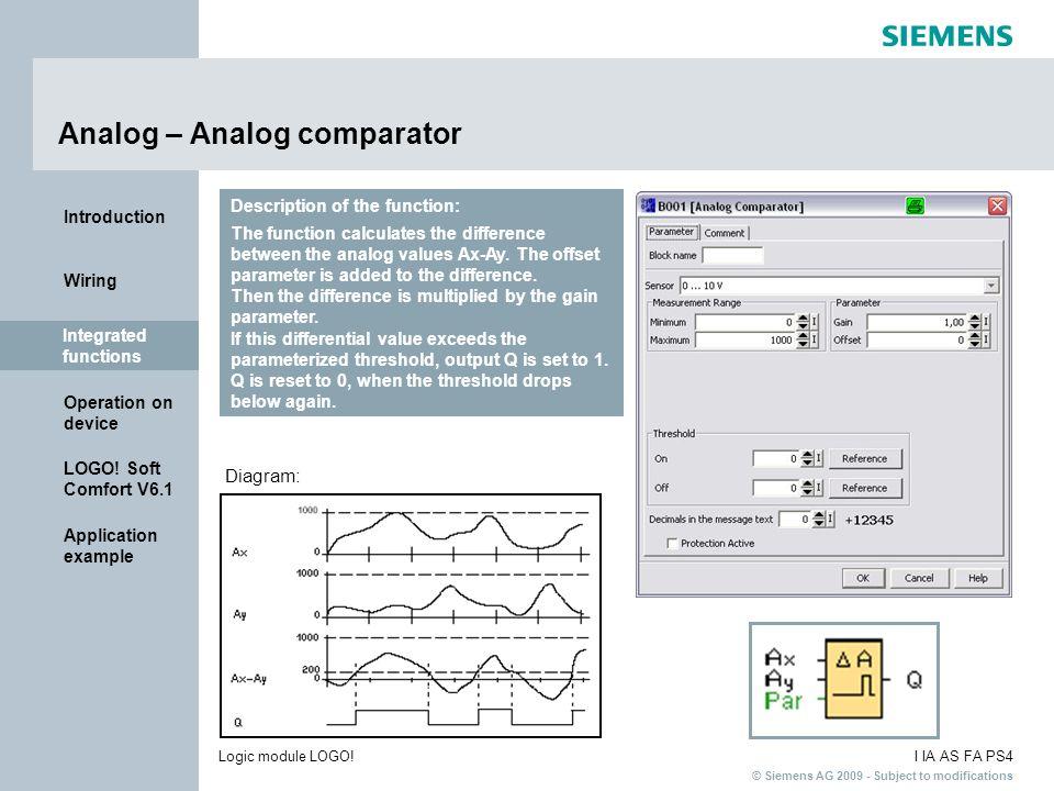 Analog – Analog comparator